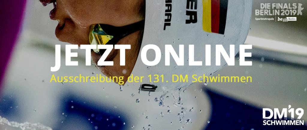 JETZT ONLINE: Ausschreibung der 131. DM Schwimmen